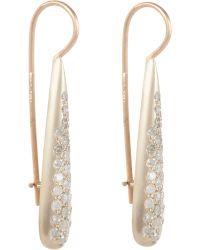 Roberto Marroni - Diamond, White Gold & Pink Gold Teardrop Earri - Lyst