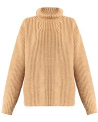 Rochas Roll-Neck Wool And Angora-Blend Sweater - Lyst