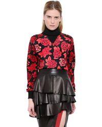 Emanuel Ungaro Printed Silk And Wool Sweater - Lyst