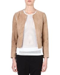 Sandro Valse Leather Detachable-sleeved Jacket - Lyst
