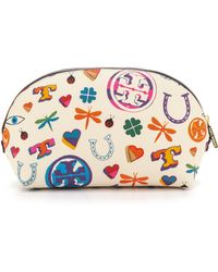 Tory Burch Kerrington Makeup Case - Luck Print - Lyst