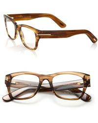 Tom Ford   51mm Rectangular Acetate Optical Glasses   Lyst