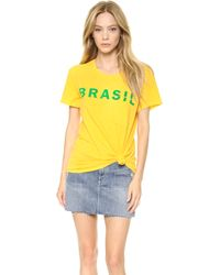 Textile Elizabeth And James Brasil Bowery Tee  - Lyst