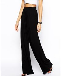 Asos Basic Wide Leg Trouser - Lyst