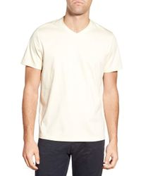 Singer + Sargent - Mercerized Cotton V-neck T-shirt - Lyst