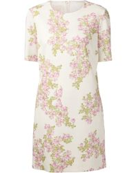Giambattista Valli Floral Print Crepe Dress - Lyst