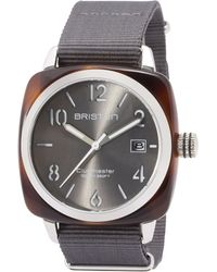 Briston - Grey Acetate Clubmaster Hms Sunray Dial Watch - Lyst