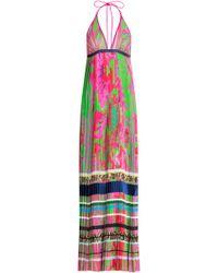 Roberto Cavalli Printed Silk Maxi Dress - Lyst