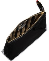 Lulu Guinness - Patent T Seam Make Up Bag with Lipstick Zip - Lyst