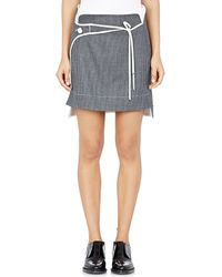 Paco Rabanne Wrap-Panel Skirt gray - Lyst