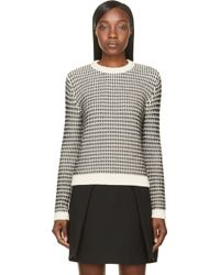 Surface To Air Ecru and Charcoal Chevron Tora Jumper - Lyst