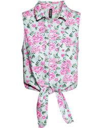 H&M Sleeveless Tie Blouse - Lyst