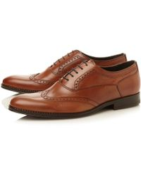 Dune Rhodesy Wingtip Almond Toe Laceup Shoes - Lyst