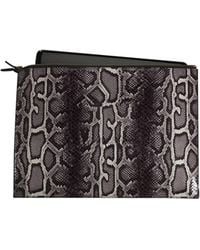 Graphic Image Faux Python Laptop Case In Grey