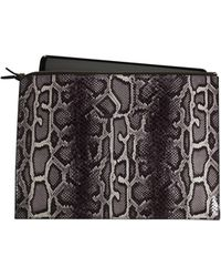 Graphic Image - Faux Python Laptop Case In Grey - Lyst