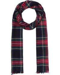 Saint Laurent Carreaux Tartan Stole - Lyst