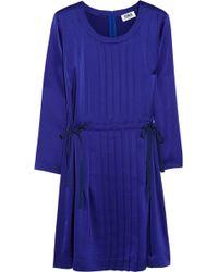 Sonia By Sonia Rykiel Pleated Satin Mini Dress - Lyst