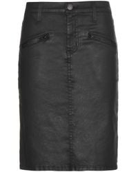Current/Elliott The Soho Zip Stiletto Pencil Skirt - Lyst