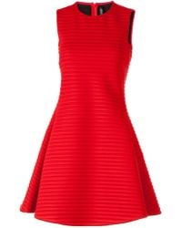 Neil Barrett Ribbed Dress - Lyst
