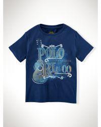 Ralph Lauren Guitar Cotton Graphic Tee - Lyst