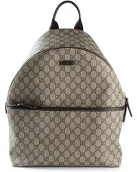 Gucci Signature Monogram Backpack - Lyst