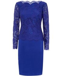 Ted Baker Vendela Lace Top Fitted Dress - Lyst