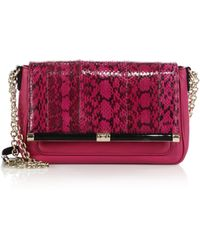 Diane von Furstenberg 440 Martini Snake-Embossed Shoulder Bag - Lyst
