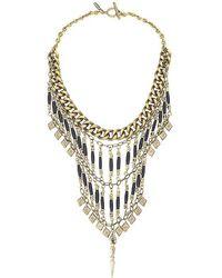 Vanessa Mooney Midnight Statement Necklace In Gold - Lyst