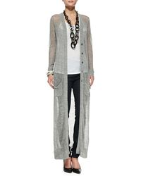 Eileen Fisher Fisher Project Long Rustic Button-front Cardigan - Lyst