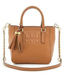 Tory Burch Thea Mini Bucket Bag - Bark - Lyst
