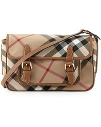 Burberry Kids Check Messenger Bag - Lyst