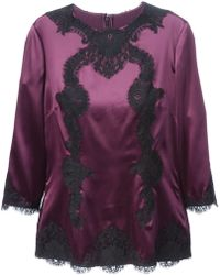 Dolce & Gabbana Lace Embroidered Blouse - Lyst
