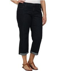 DKNY Plus Size Soho Skinny Rolled Crop In Stockholm Wash - Lyst