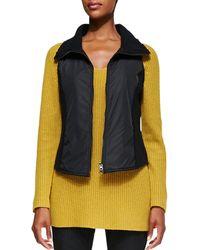 Eileen Fisher Boiled Wool Parka Vest - Lyst