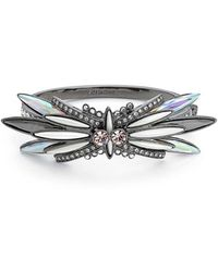 Givenchy - Crystal Bangle Bracelet - Hematite - Lyst