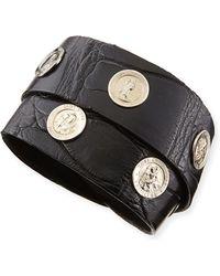 Katie Design Jewelry - Saintly Studs Alligator Wrap Bracelet - Lyst