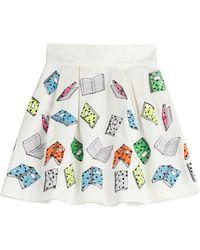 Olympia Le-Tan Westcliff Printed Mini-Skirt - Lyst