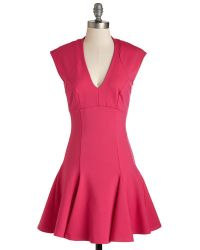 Mystic Fashion A Dash Of Flair Dress In Magenta - Lyst