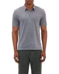 James Perse Sueded Jersey Polo - Lyst