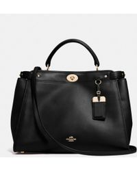 Coach Gramercy Satchel in Leather - Lyst
