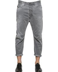 Diesel Narrot-A Cotton Gabardine Chino Pants gray - Lyst