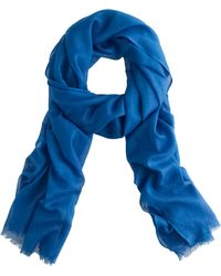 J.Crew Solid Cotton Scarf - Lyst