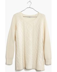Madewell Cable-Front Sweater - Lyst