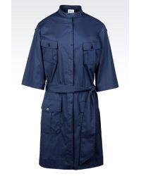 Armani Shirt Dress in Stretch Twill - Lyst