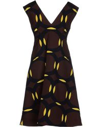 Marni Short Dress brown - Lyst