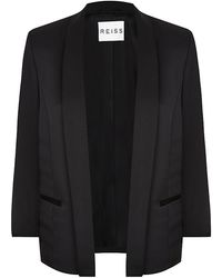 Reiss Violet Open Front Jacket - Lyst