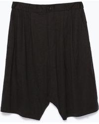 Zara Dark Bermuda Shorts - Lyst