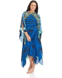 Gottex Emerald Boa Long Caftan Swim Cover Up - Lyst