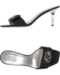 Guess Black Sandals - Lyst