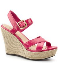 Ugg Jackilyn Leather Wedge Sandals - Lyst